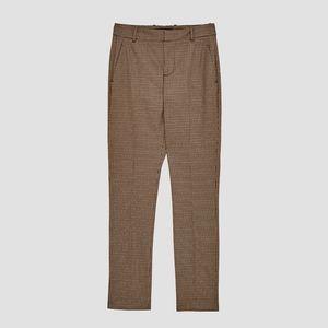 NWT Zara High waist checked trousers Size 6
